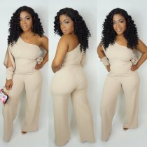 Sexy One Shoulder Hollow Out Jumpsuit OSM-6074