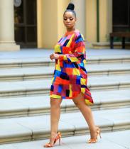Color Plaid Casual Loose Midi Dresses MYP-8832