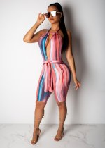 Sexy Gradient Halter Knee Length Jumpsuits LSL-6272