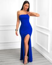 Sexy Strapless High Split Mermaid Long Evening Dress HM-6117