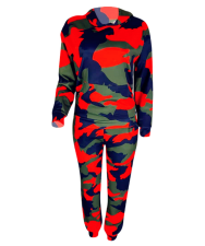 Camouflage Print Hoodies And Pant 2 Piece Set YMT-6045