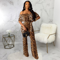 Sexy Off Shoulder Sashes One Piece Jumpsuits SMR-9417