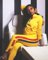 Casual Sporty Long Sleeve Two Piece Pant Sets YN-056
