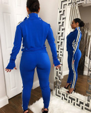 Casual Tracksuit Zipper Long Sleeves 2 Piece Suits CM-629