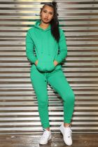 Solid Hoodies Tracksuit Casual Two Piece Sets IV-8067