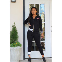 Casual Tracksuit Zipper Long Sleeve Two Piece Set TEN-3291