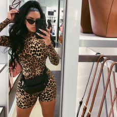 Sexy Leopard Printed Romper DFBLG-991259