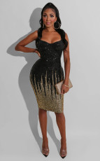 Sexy Sequin Spaghetti Strap Bodycon Dress OSM-5312