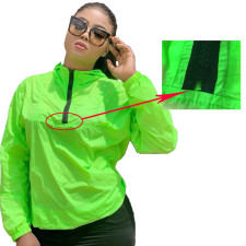 Solid Hooded Zipper Sun Protection Jacket Coat FSL-045