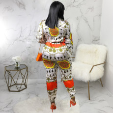 Long Sleeve Print Jumpsuit SMR-9560