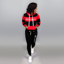 Casual Tracksuit Hooded Long Sleeve Two Piece Suits WSM-5111-1