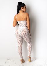 Sexy Mesh Nightclub Perspective Two-piece Set AIL-079