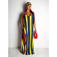 Hot Sale Striped Strapless Dress CHY-1167