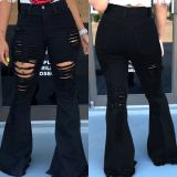 Hot Sale Tassel Flared Denim Pants LSD-8369