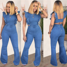 Plus Size Denim Hollow Jeans Jumpsuits LSD-8327