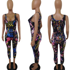 Sexy Printed Sleeveless Bodycon Jumpsuits RSN-729