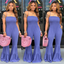 Sexy Spaghetti Strap Flared Jumpsuits ML-7226