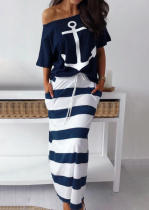 Printed Stripes Two Piece Set AIL-088