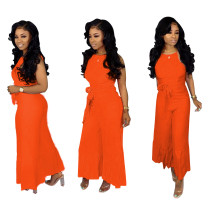 Sexy Solid Sleeveless Flare Jumpsuits SHD-9115