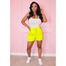 Casual Tank Bodysuit And Shorts Two Piece Sets AIL-087