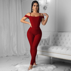 Plus Size Sexy Solid Color Two Piece Set MTY-M6272