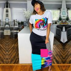Fashion Casual Print Maxi Dress YD-8204