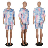 Casual Tie-dye Printing Two-piece Suit MOS-1075