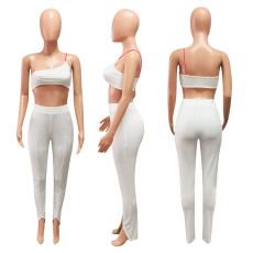 Sexy Tube Top And Pants Fitness Two Piece Sets NIK-124