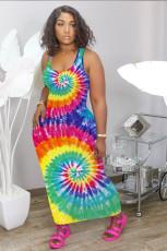 Casual Print Sleeveless Maxi Dress NIK-130