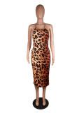 Leopard/Camo/Snakeskin Print Backless Slip Dress MK-3005
