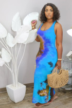 Fashion Tie-dye Plus Size Sexy Dress HGL-1352
