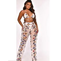 Sexy Printed Mesh Two-piece Set With Underpants ORY-5117-1