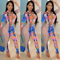 Colorful Printed Patchwork One Piece Jumpsuits KSN-5142