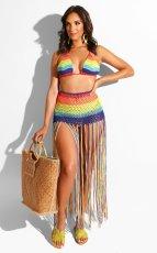 Sexy Crochet Tassel Cutout Skirt Two Piece Set ZSD-051