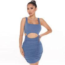 Solid Sleeveless Bodycon Skirt Sexy 2 Piece Sets ZSD-0295