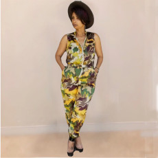 Fashion Casual Camouflage Jumpsuit ABF-8135