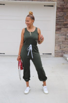 Solid Sleeveless O Neck Casual One Piece Jumpsuit SFY-142