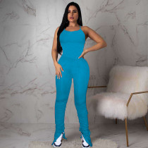 Sexy Backless Folds Split Micro Flare Jumpsuits NM-8303