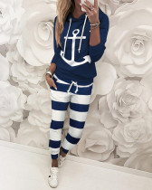 Casual Printed Hoodies Pants Two Piece Suits SFY-148