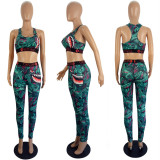 Sexy Tank Top And Pants Fitness Two Piece Sets LSL-8049