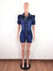 Fashion Sexy Slim Denim Shorts Rompers LX-6873