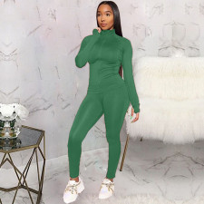 Fashion Casual Solid Color Tracksuits Two Piece Set KSN-8011