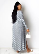 Polka Dot Strapless Rompers+Long Cloak 2 Piece Sets ML-7352