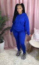 Solid Hoodies Long Pants Thick Two Piece Jogger Sets AIL-116