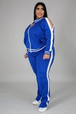 Plus Size Casual Tracksuit Two Piece Pants Set BMF-019