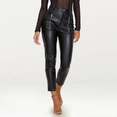 PU Leather Black Skinny Pencil Pants SH-006