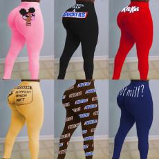 Sexy Printed Bodycon Long Pants SHD-9328