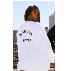 Casual Loose Letters O Neck Sweatshirt Dress BLI-2138