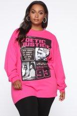 Casual Printed Long Sleeves O Neck Sweatshirt BLI-2139