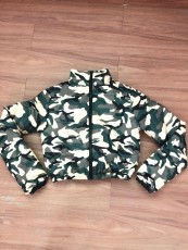 Camo Print Winter Warm Zipper Down Coat OSM-4552
